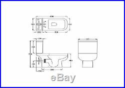 Series 600 Cloakroom Suite, WC Toilet with Base Unit & Basin, Choice of Taps